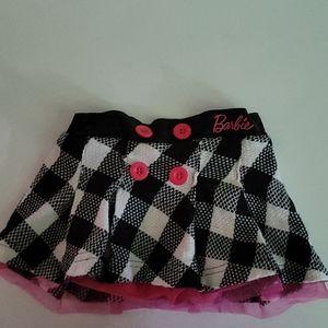 Barbie Girls Size 3/4 white and black skirt
